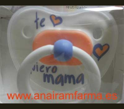 Chupete Anatómico Látex Te Quiero Mamá Pastel +12 Meses Bibi