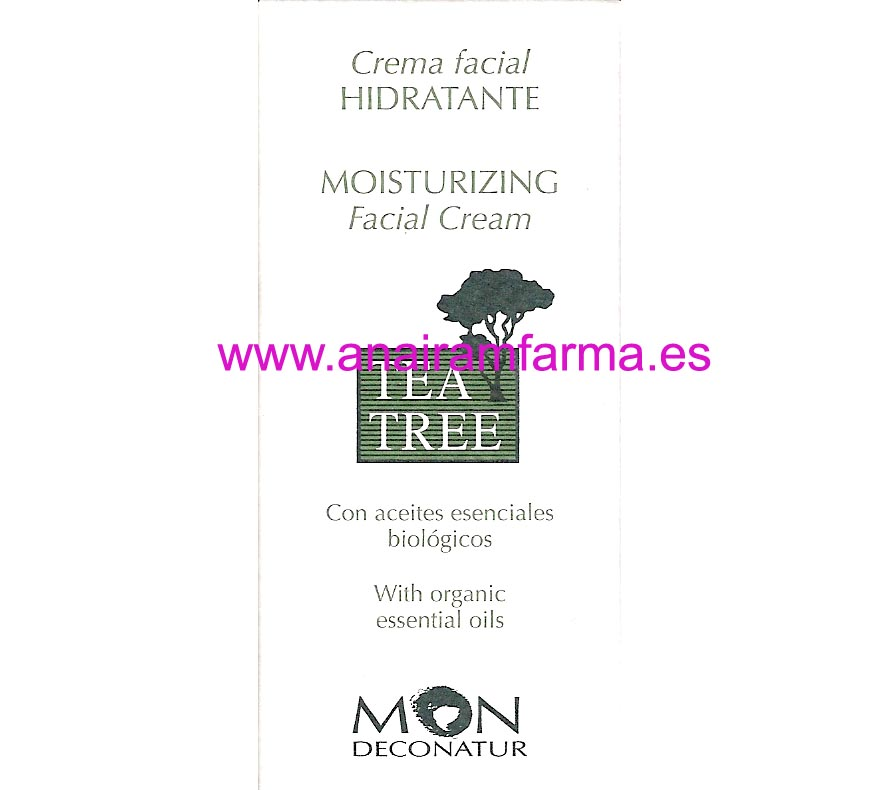 Crema Hidratante Tea Tree 30ml Mon Deconatur