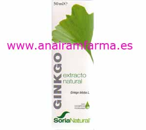 Extracto Ginkgo 50 ml Soria Natural