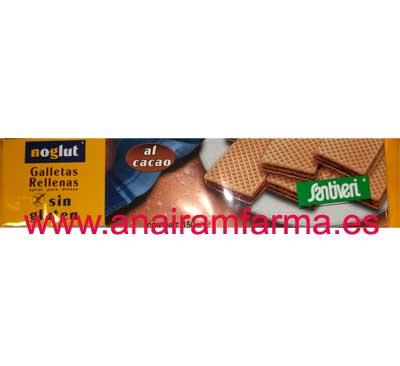 Galletas Rellenas Cacao Noglut 150G. Santiveri