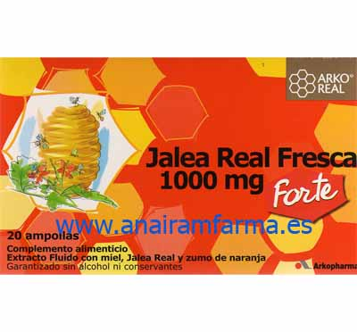 Jalea Real 1000mg 20Ampollas Arkopharma
