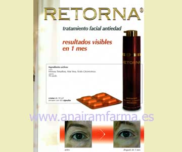 Retorna Crema Facial 50 ml.