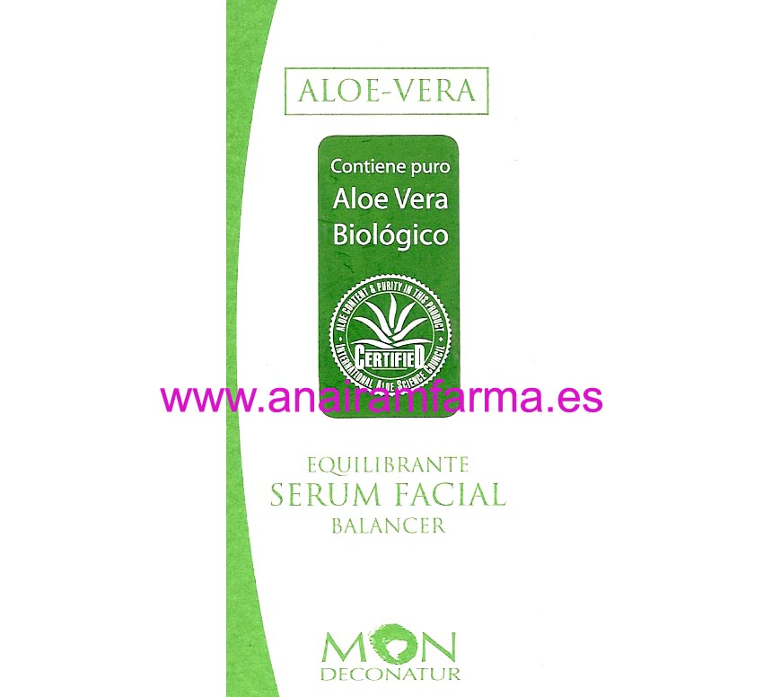 Serum Equilibrante Aloe Vera 50ml Mon Deconatur